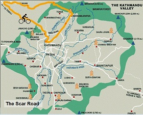 Map of Scar Road Cycling Tour